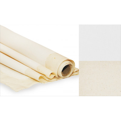 Холст в рулоне, 2.2x10 м,  мелкое зерно, 320 г/м2, ХЛОПОК, акриловый грунт