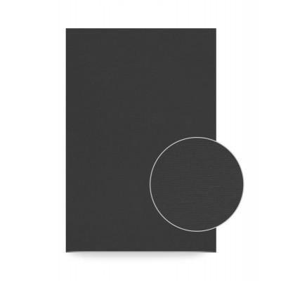 18х24 см, Хлопок, мелкое зерно, ЧЕРНЫЙ акриловый грунт, Холст на картоне ROSA Studio