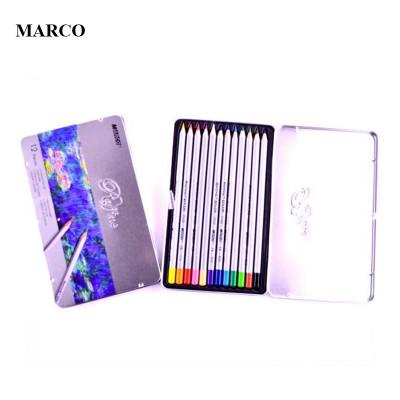 Набір кольорових олівців, 12 кольорів в металевому пеналі, MARCO Raffine 7100-12TN