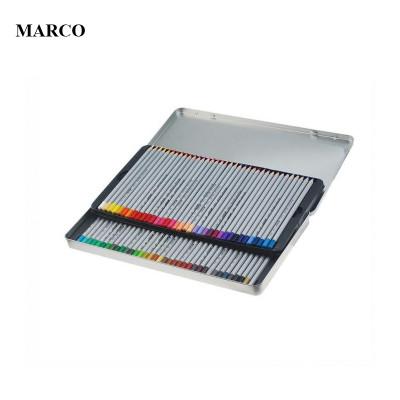 Набір кольорових олівців, 50 кольорів в металевому пеналі, MARCO Raffine 7100-50TN