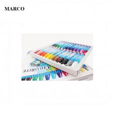 Набір пастелі маслянної, 24 кольори, Marco ColoRite 1100OP-24CB