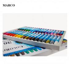 Набір пастелі маслянної, 36 кольорів, Marco ColoRite 1100OP-36CB