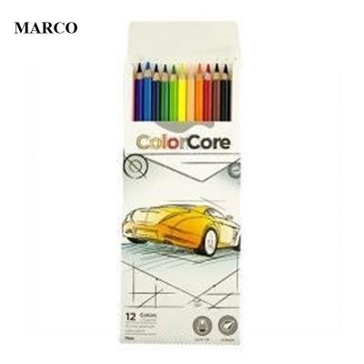 Набір кольорових олівців, 12 кольорів, Marco ColorCore 3100-12CB