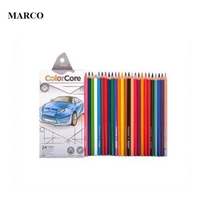 Набір кольорових олівців, 24 кольори, Marco ColorCore 3100-24CB