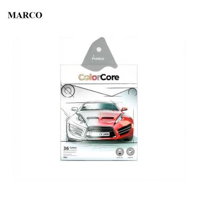 Набір кольорових олівців, 36 кольорів, Marco ColorCore 3100-36CB