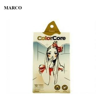 Набір кольорових олівців, 12 кольорів, Marco ColorCore 3130-12CB