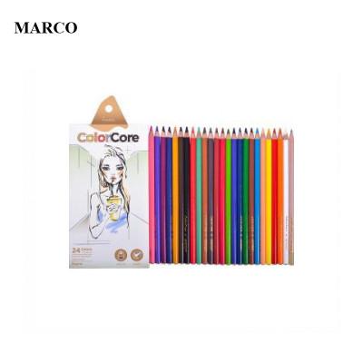 Набір кольорових олівців, 24 кольори, Marco ColorCore 3130-24CB