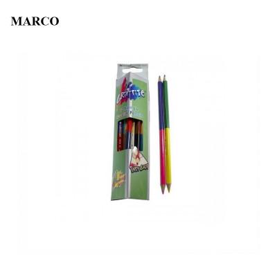 Набір двокольорових тригранних олівців, 12шт. - 24 кольори, Marco Marco Grip-rite 9101-12CB