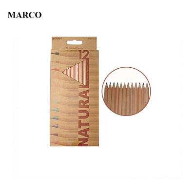 Набір кольорових олівців, 12 кольорів, Marco NATURAL Colored Pencils 6100-12CB