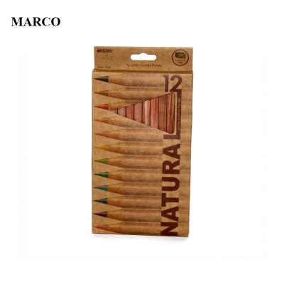 Набір кольорових олівців, 12 кольорів, Marco NATURAL Jumbo Colored Pencils 6400-12CB