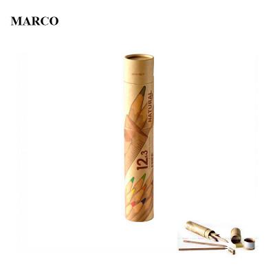 Набір кольорових олівців, 12 кольорів (+ 3 графітні, точилка, резинка, лінійка), Marco Natural. 6810-15CY