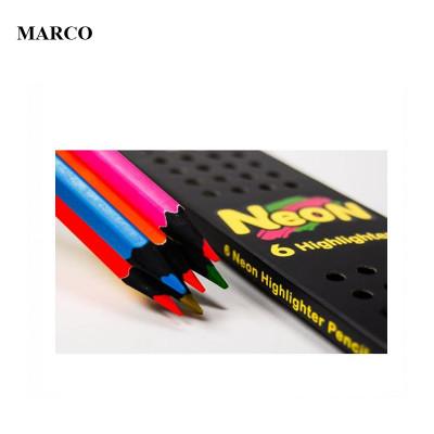 Набір кольорових олівців, 6 кольорів, Marco Neon 5500B-6CB