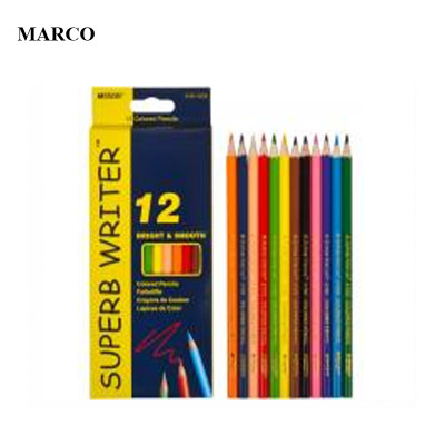 Набір кольорових олівців, 12 кольорів, Marco Superb Writer. 4100-12CB