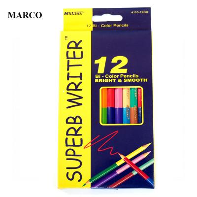 Набір кольорових двосторонніх олівців, 12шт. - 24 кольори, Marco Superb Writer. 4110-12CB