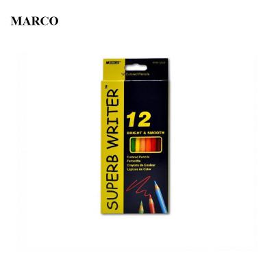 Набір кольорових акварельних олівців, 12 кольорів, Marco Superb Writer (Water Color Pencils). 4120-12CB