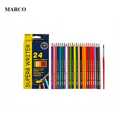 Набір кольорових акварельних олівців, 24 кольори, Marco Superb Writer (Water Color Pencils). 4120-24CB