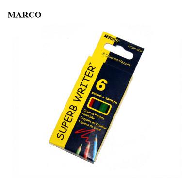 Набір кольорових міні олівців, 6 кольорів, Marco Superb Writer mini. 4100H-6CB