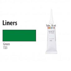 Зелений контур для тканини, Decola, 18мл