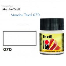 Біла акрилова фарба Marabu, 50 мл, для світлих тканин