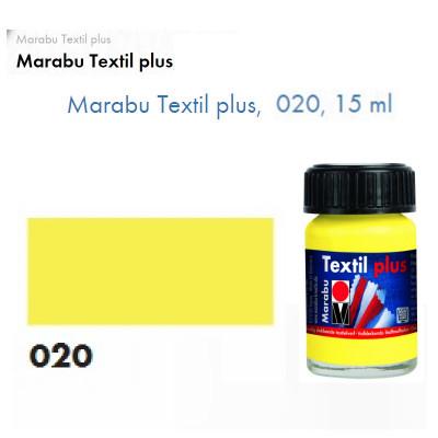 Лимонна акрилова фарба Marabu, 15 мл, для темних тканин і шкіри 171539020