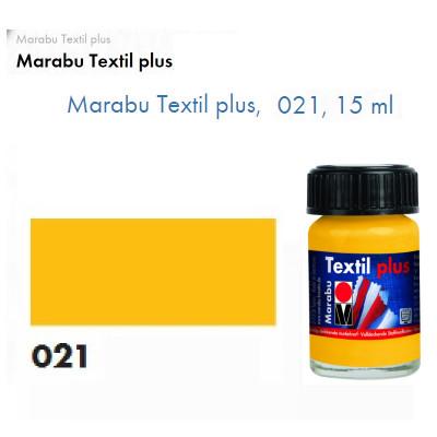 Жовта середня акрилова фарба Marabu, 15 мл, для темних тканин і шкіри 171539021