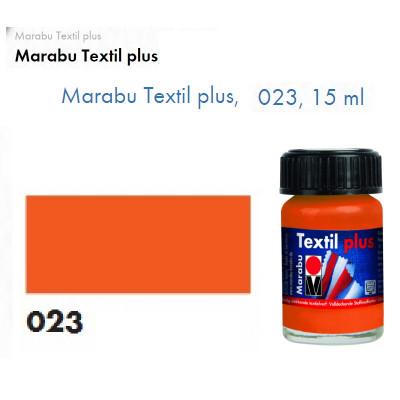 Оранжево-червона акрилова фарба Marabu, 15 мл, для темних тканин і шкіри 171539023