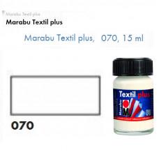 Біла акрилова фарба Marabu, 15 мл, для темних тканин і шкіри 171539070