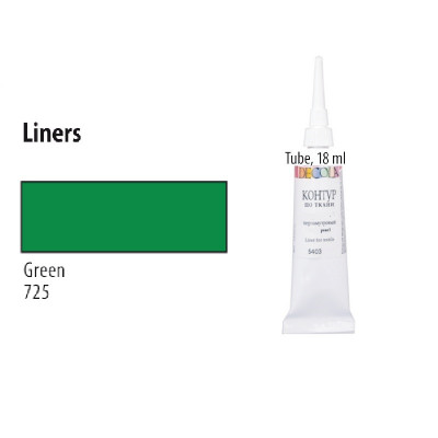 Зелений контур для скла та кераміки, Decola, 18мл