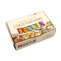 Набір акрилових фарб по склу та кераміці, 6 кольорів по 20мл., Decola 4041026