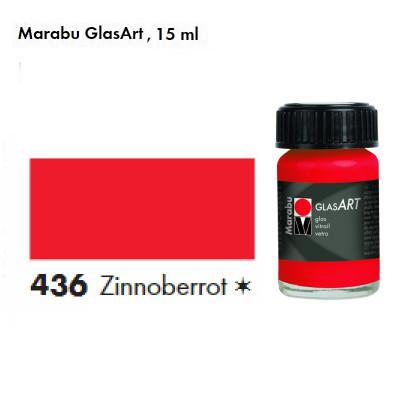 Кіновар, Marabu-GlasArt, 15мл, на основі розчинника