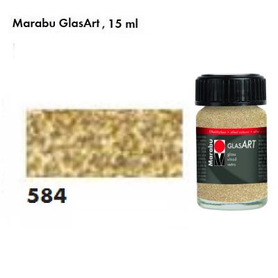 Золота з блискітками, Marabu-GlasArt, 15мл, на основі розчинника