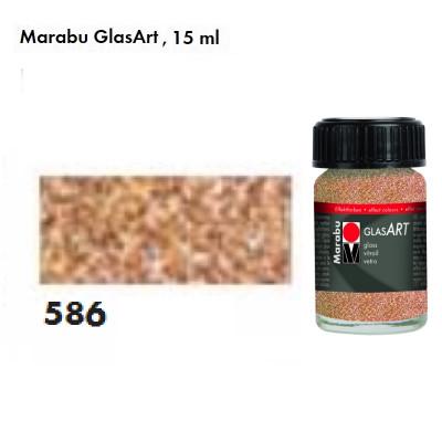 Насичена золота з блискітками, Marabu-GlasArt, 15мл, на основі розчинника