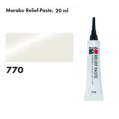 Білий металік вітражний контур, 20мл, Marabu, 130707770