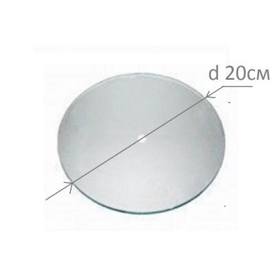 Основа під годинник, скляна, кругла, діаметр 200 мм., товщина 4 мм., шліфована кромка