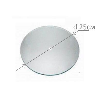 Основа під годинник, скляна, кругла, діаметр 250 мм., товщина 4 мм., шліфована кромка